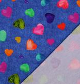 Jersey Digital Hearts Jeans Blue