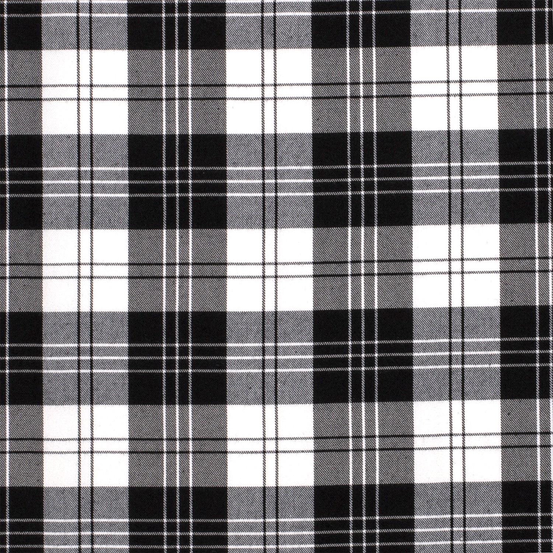 Schotse Ruit / Tartan Check Black / White