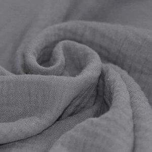 Baby Cotton / Mousseline Uni / Effen Grijs
