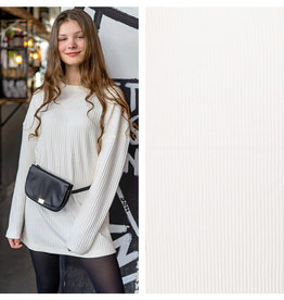 Nooteboom Textiles Viscose Knitted Rib Off White