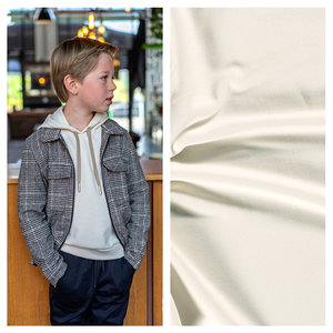 Nooteboom Textiles Gerecycled Joggingstof  Effen Off White