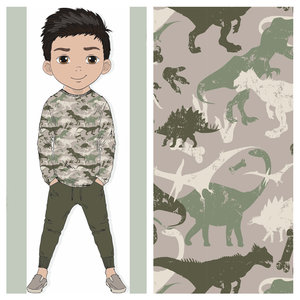 Toff Designs French Terry Brushed Dino