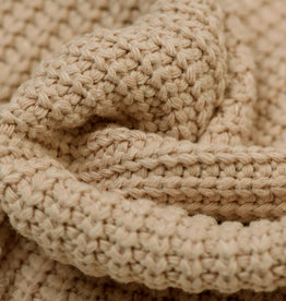 Gebreide stof, Big Knit Cable Beige