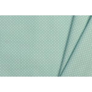 Katoen Poplin Mini Dots Aventurine Green