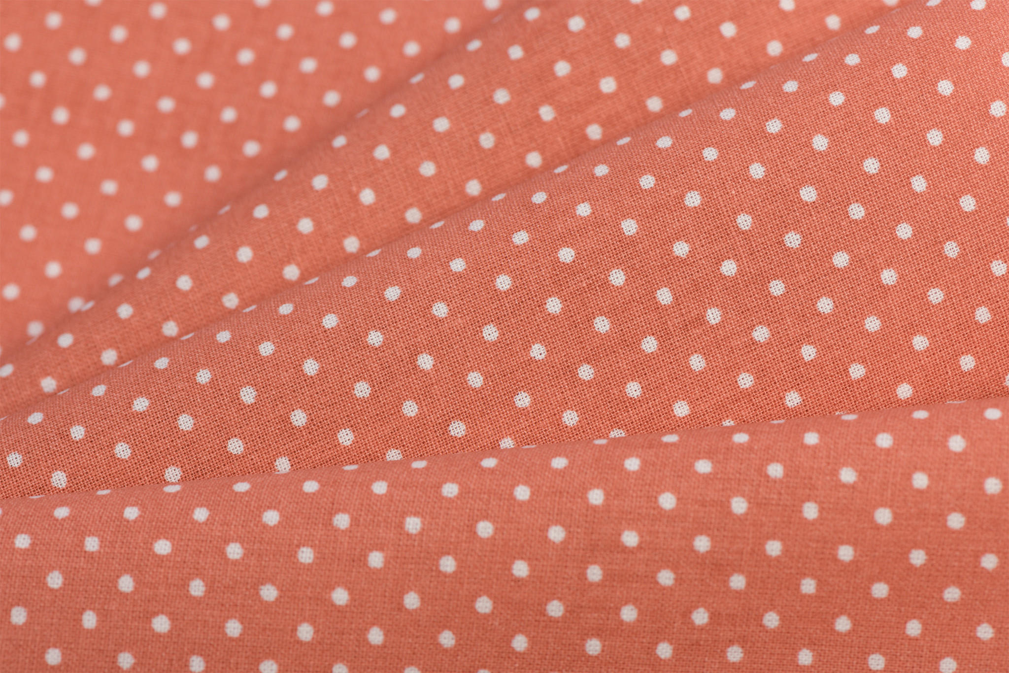 Katoen Poplin Mini Dots Chili