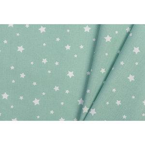 Katoen Poplin Zetoile Stars Aventurine Green