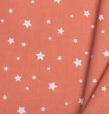 Katoen Poplin Zetoile Stars Chili