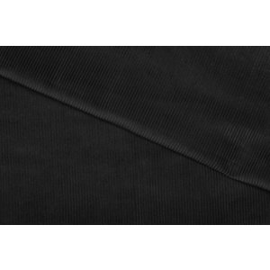 Ribcord Katoen Zwart