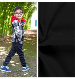 Nooteboom Textiles Sweatshirt Stof Gekamd Effen Zwart
