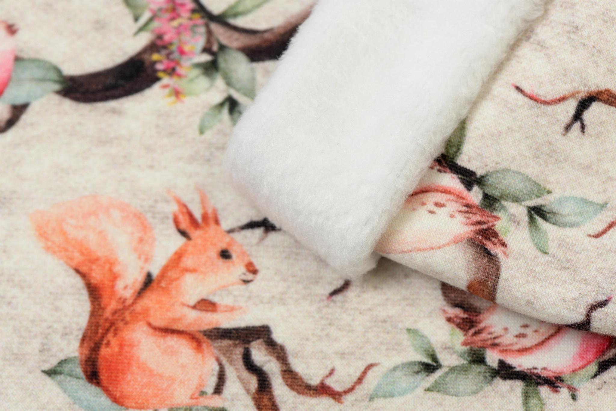 Alpen Sweat Digi Forest Animal Off White Melange