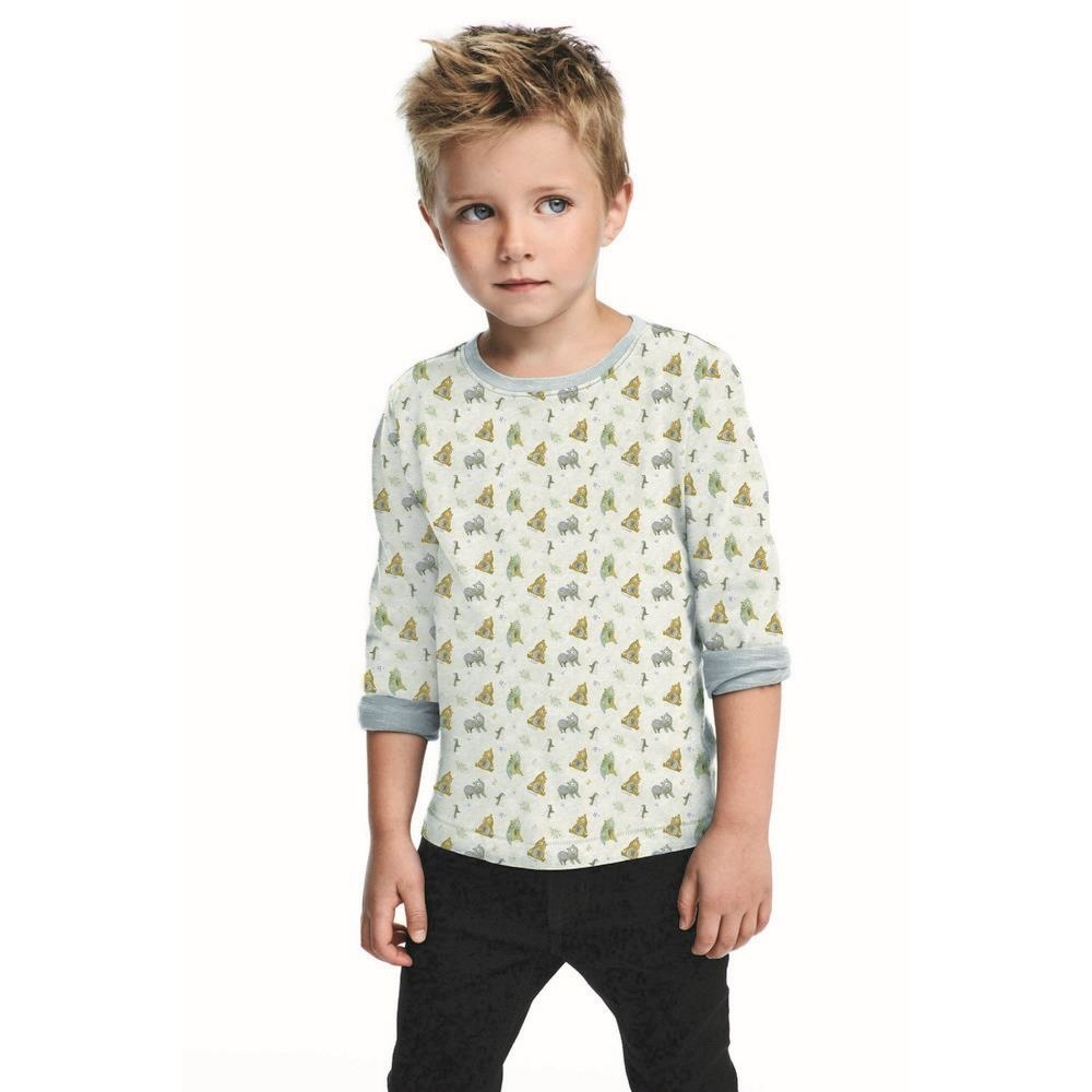 by Poppy designed for you Organic Jersey Bear and Pinguïn Off White