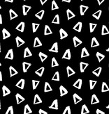 by Poppy designed for you Organic Jersey Graphic Triangle Black