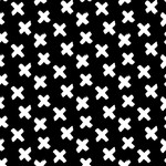 by Poppy designed for you Organic Jersey Graphic Cross Black