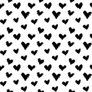 by Poppy designed for you Organic Jersey Graphic Hearts White