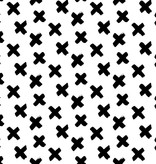 by Poppy designed for you Organic Jersey Graphic Cross White