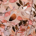 by Poppy designed for you Organic Jersey Leaves Beige