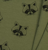 by Poppy designed for you Organic Soft Sweat Racoon Forest Green