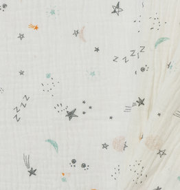 Baby Cotton / Mousseline Sketched Space Off White
