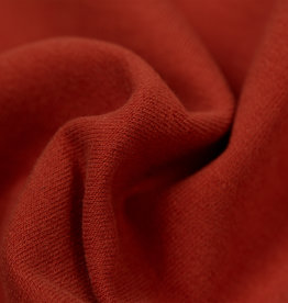 by Poppy designed for you GOTS French Terry Brushed Uni / Effen Rust
