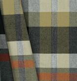 Schotse Ruit / Tartan Check Stretch Grey / Orange / Sand