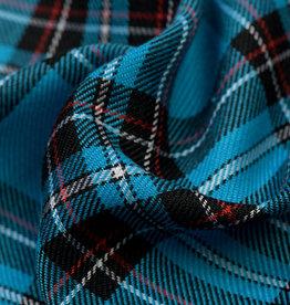 Schotse ruit turquoise