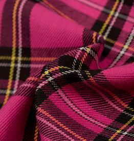 Schotse ruit fuchsia