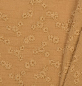 Baby Cotton / Double Gauze Embroidery Camel