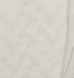 Baby Cotton / Double Gauze Embroidery Ecru
