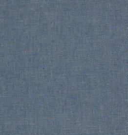 Denim chambray blauw