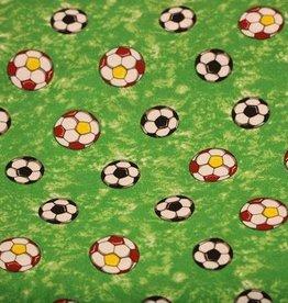 Voetbalstoffen Groen gekleurd voetbal