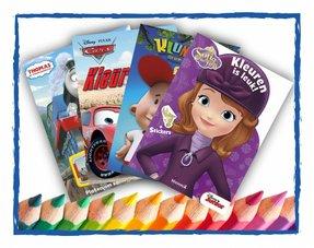 Kleuren, plakken en lezen