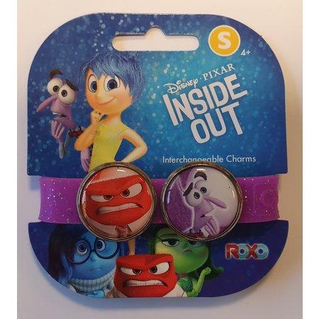 Disney Roxo Inside out Bracelet op kaart, paars/glitter