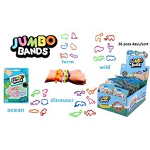 Jumbo Bands/Armbandjes 4ass. 36 in display