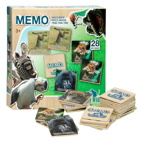 Houten Memory Wildlife 28pcs. in box