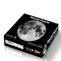 Round flat puzzel 1000 stukjes - Moon