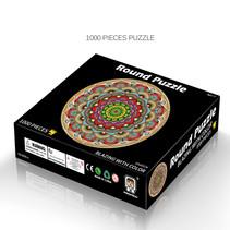 Round flat puzzel 1000 stukjes - Mandala
