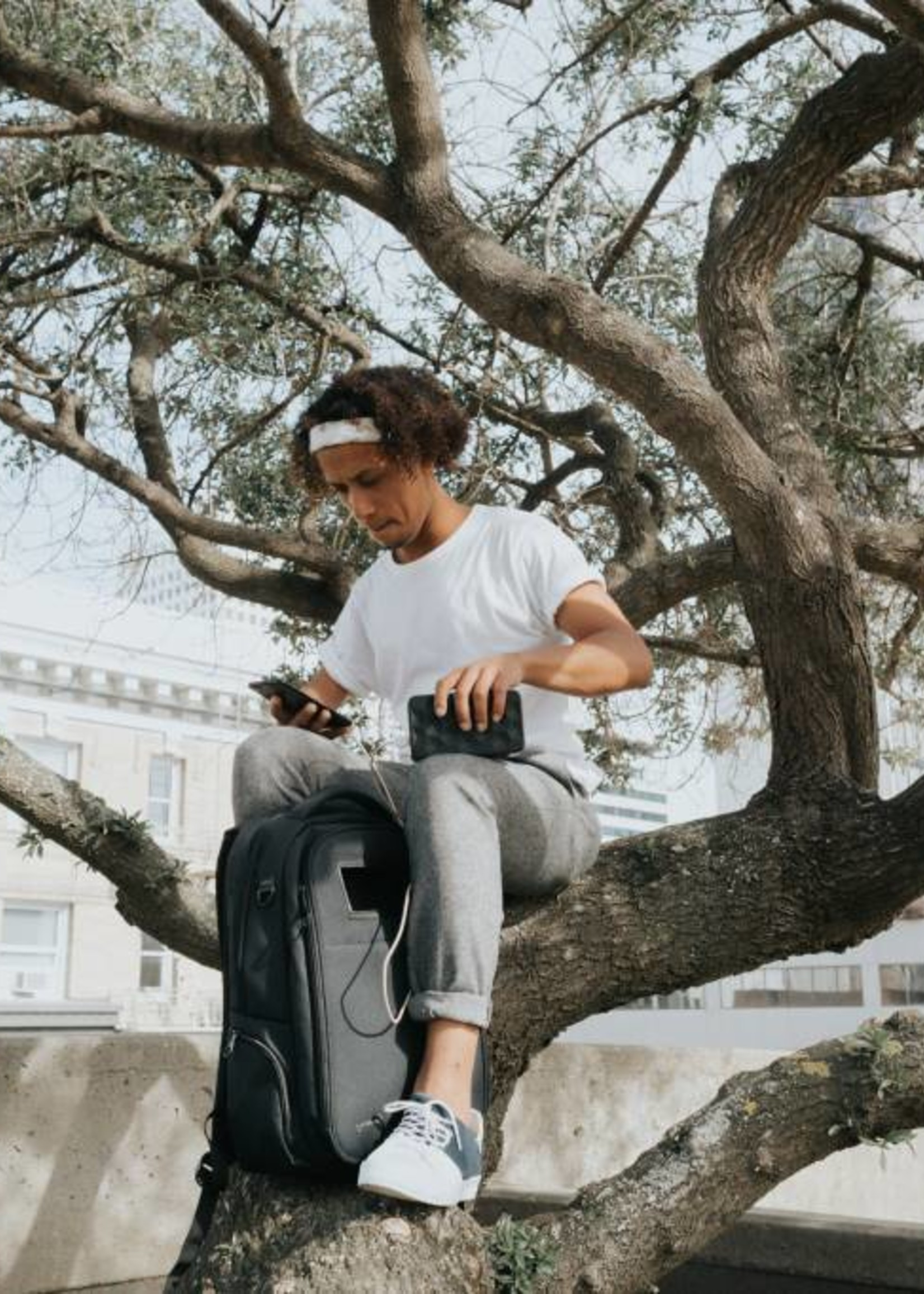 Life Pack Solar Powered Anti-theft Backpack