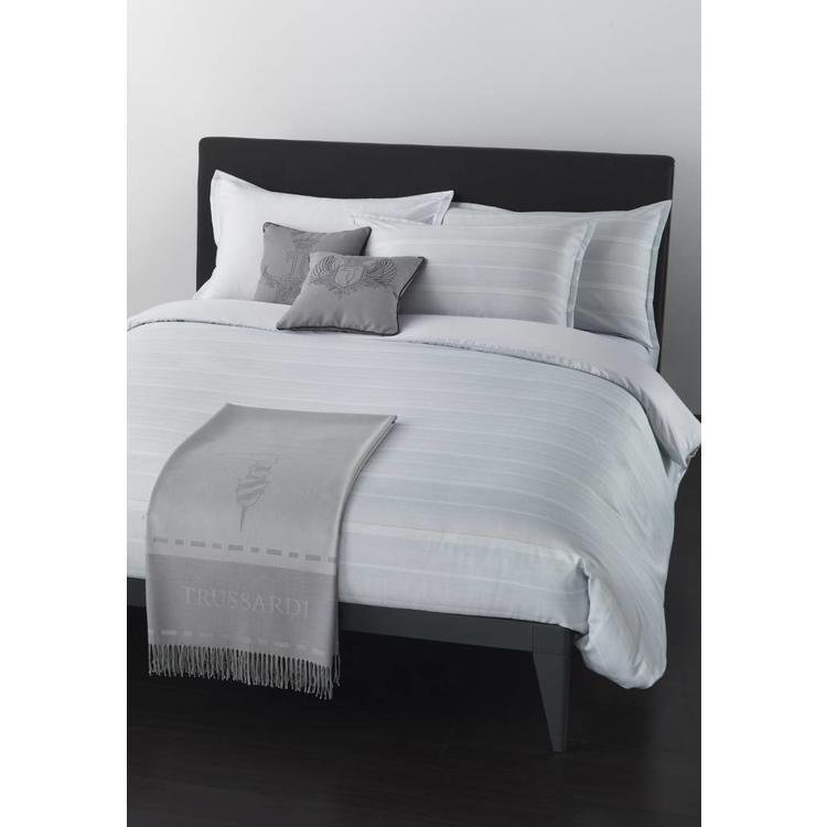 Trussardi T-stripes Bedsprei - Pastelblauw (270x260cm)