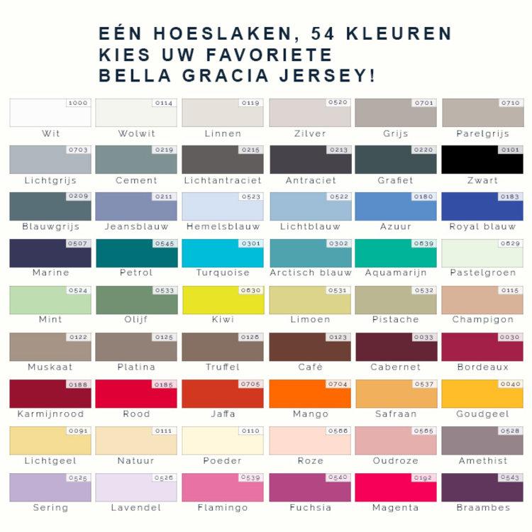 Formesse Bella Gracia Jersey Hoeslaken - Blauwgrijs