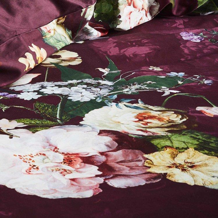Essenza Fleur Burgundy dekbedovertrek (240x220)