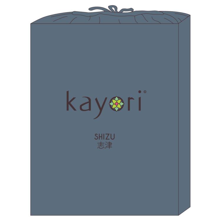 Kayori Katoen topper hoeslaken Perkal Shizu Donkerblauw
