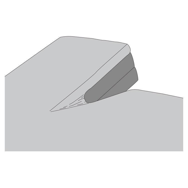 Kayori Katoen split topper hoeslaken Perkal Shizu Zilvergrijs