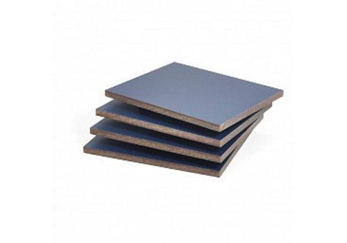 HPL plaat donkerblauw structuur 6mm