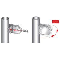 Justierbare Innensechskantschraube für Schamwandklammer, M8 x 20 mm Edelstahl
