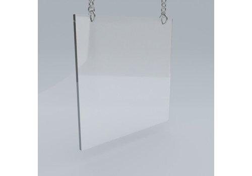 Plexiglas Plexiglas kuchscherm hangend