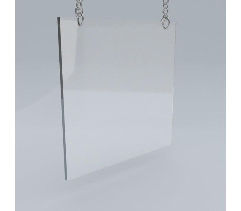Plexiglas Schutzscheibe hängend