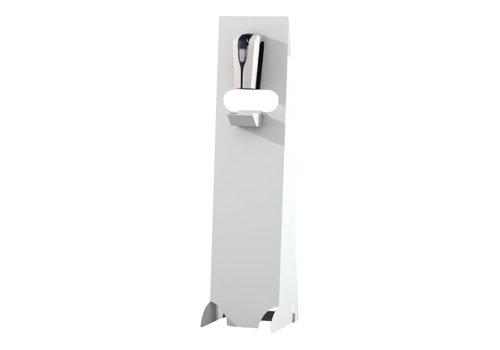 Desinfectie dispenser zuil wit