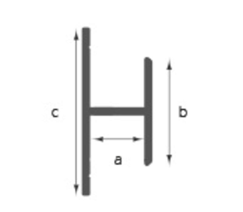 Voegafdek / koppel profiel C