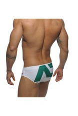 Addicted ADDICTED Extra Large AD Logo Brief weiss