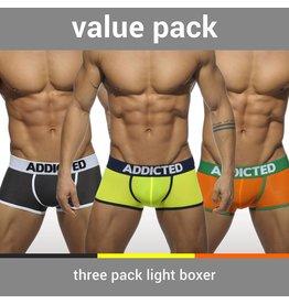Addicted ADDICTED Three Pack Light Boxer
